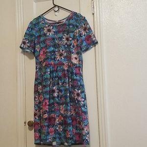 Lularoe Floral Dress 3xl